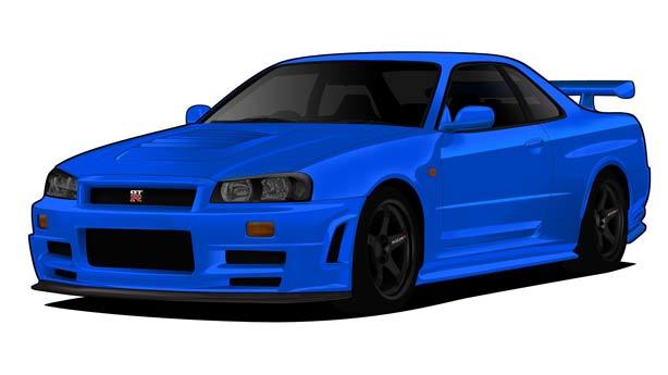 Покраска автомобиля Nissan Skyline